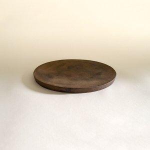西川聡 黒銀彩 楕円皿