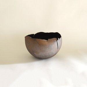 西川聡 黒銀彩 花器