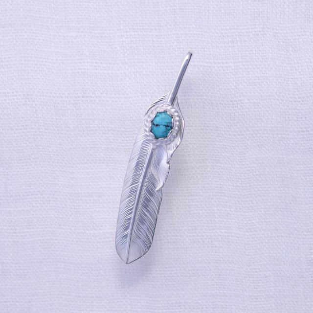 Feather L ( Right ) with Turquoise 6*8
