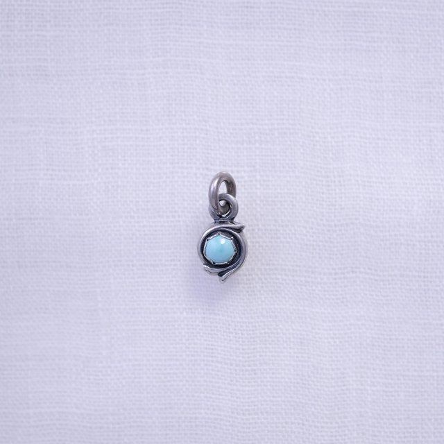 Round Arabesque Top S Turquoise