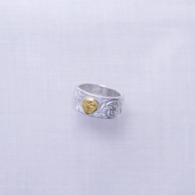 KARAKUSA Ring with Gold Point L