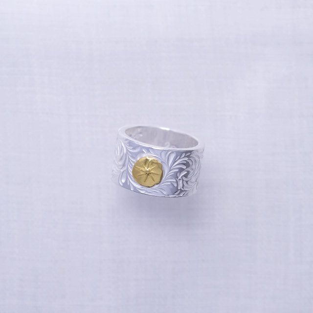 KARAKUSA Ring L with Gold Point L