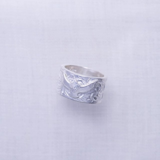 KARAKUSA Ring L with Mini Eagle