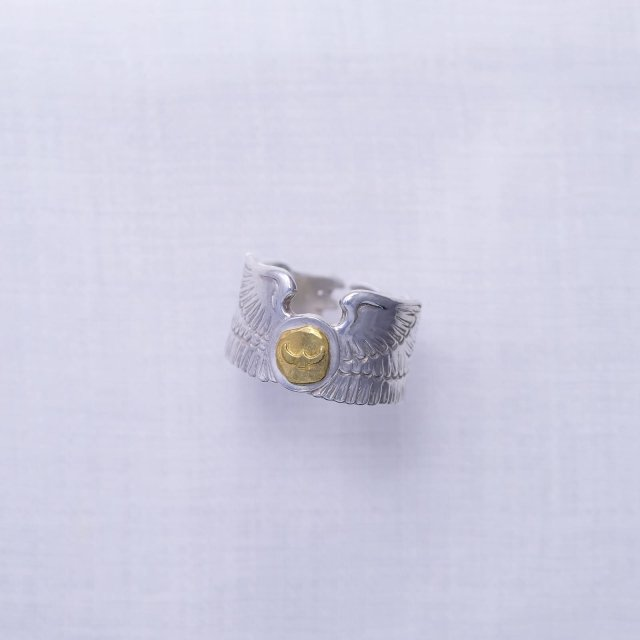 Eagle Wing Ring with Gold Point L ( Eagle )