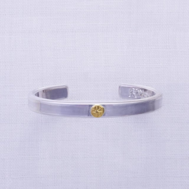 Plain Bangle 8mm width with Gold Point L