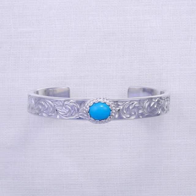 KARAKUSA Bangle 10mm width with Turquoise