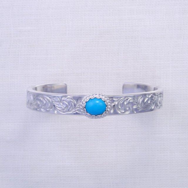 KARAKUSA Bangle 10mm width with Turquoise