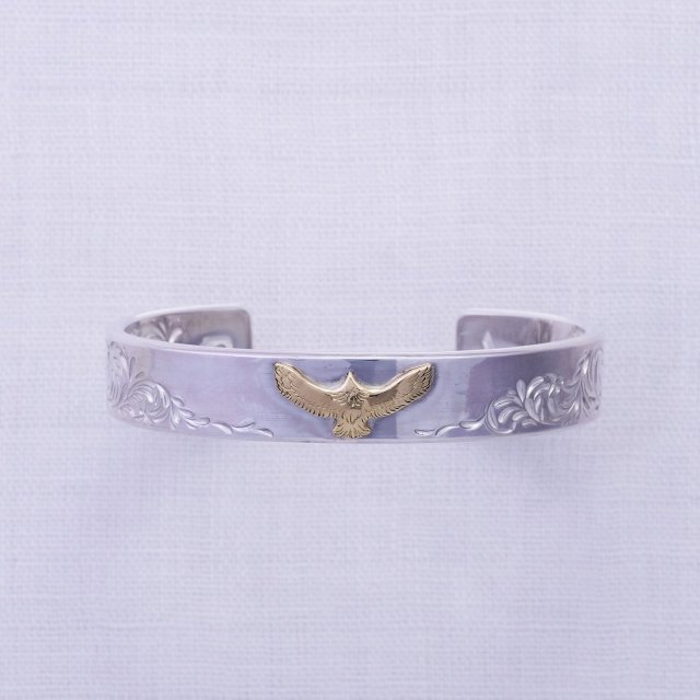 KARAKUSA Bangle 12mm width with K18 Mini Eagle