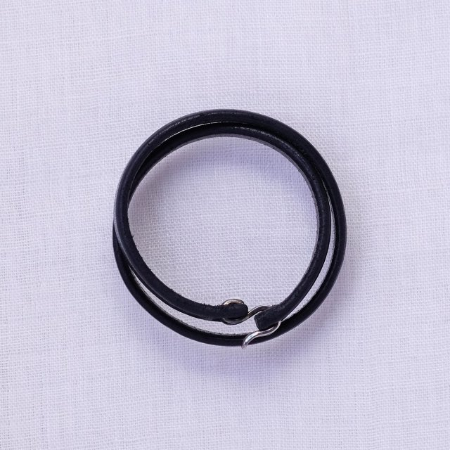 Leather Bracelet 13 ( Black )