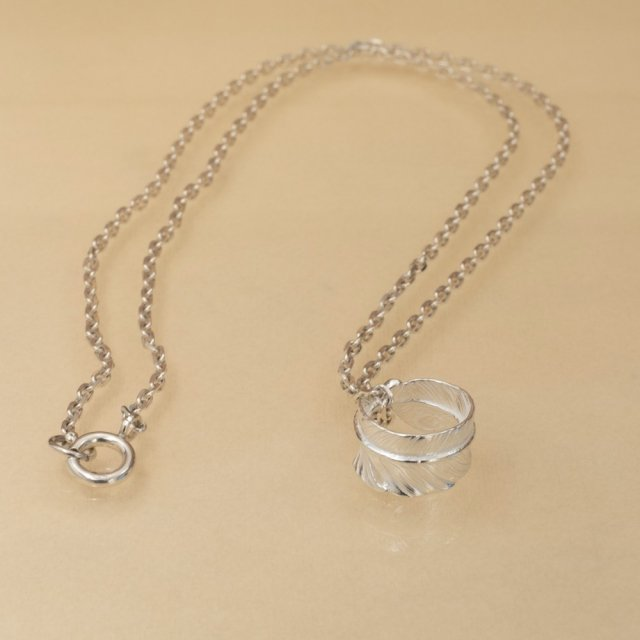 Ring Feather Necklace