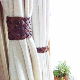 山葡萄の樹皮のカーテンタッセル