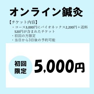 【初回限定キャンペーン】オンライン鍼灸