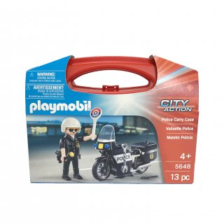 【playmobil】Police Carry Case