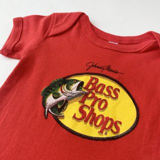 【Bass Pro Shops】Logo Baby Rompers /Red
