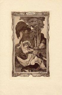 フランツ・フォン・バイロス蔵書票 Ex Libris Fornaro (brown)