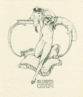 バイロス蔵書票 Ex Libris G.E.R.