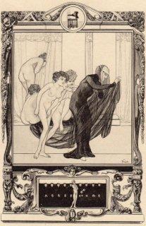 フランツ・フォン・バイロス挿絵作品(尼僧と女性たち)