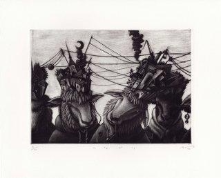 久保 貴之  銅版画作品 『つながり』