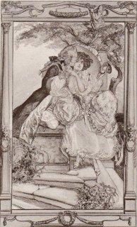 フランツ・フォン・バイロス挿絵作品「少女と貴族」