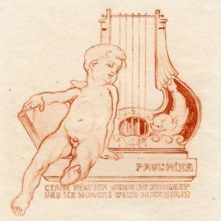 フランツ・フォン・バイロス蔵書票 Paul Mixa(165)