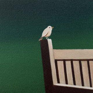 豊田 泰弘 油彩画「小鳥#1」