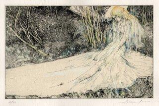 アルフォンス・イノウエ 銅版画作品「ビブリス P.ルイスへ」サイン入り