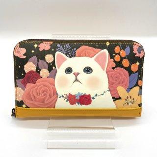 choo choo(チューチュー) 猫の長財布 ローズブラック