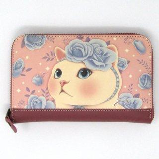 choo choo(チューチュー) 猫の長財布 ブルーローズ