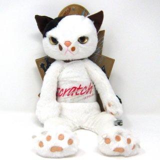 スクラッチ Lサイズ猫のぬいぐるみ ミルク猫 スクラッチキャット 米田民穂