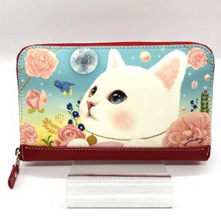 choo choo(チューチュー) 猫の長財布 白猫 オッドアイ