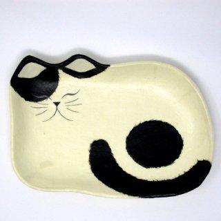ひだまりのら 和紙トレー 猫のトレー 姿 小 猫柄