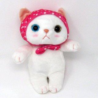 猫のぬいぐるみ chocho(チューチュー)本舗 ピンク頭巾M