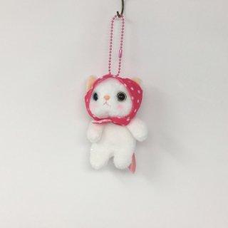 猫のぬいぐるみ chocho(チューチュー)本舗 ピンク頭巾マスコット