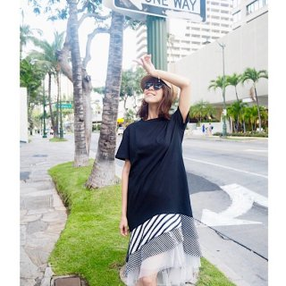 <img class='new_mark_img1' src='//img.shop-pro.jp/img/new/icons55.gif' style='border:none;display:inline;margin:0px;padding:0px;width:auto;' /> バリアスストライプレイヤードドレス