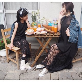 <img class='new_mark_img1' src='//img.shop-pro.jp/img/new/icons14.gif' style='border:none;display:inline;margin:0px;padding:0px;width:auto;' /> LEFUA KID'S / レイヤードレースパンツセットアップ(130〜140cm)