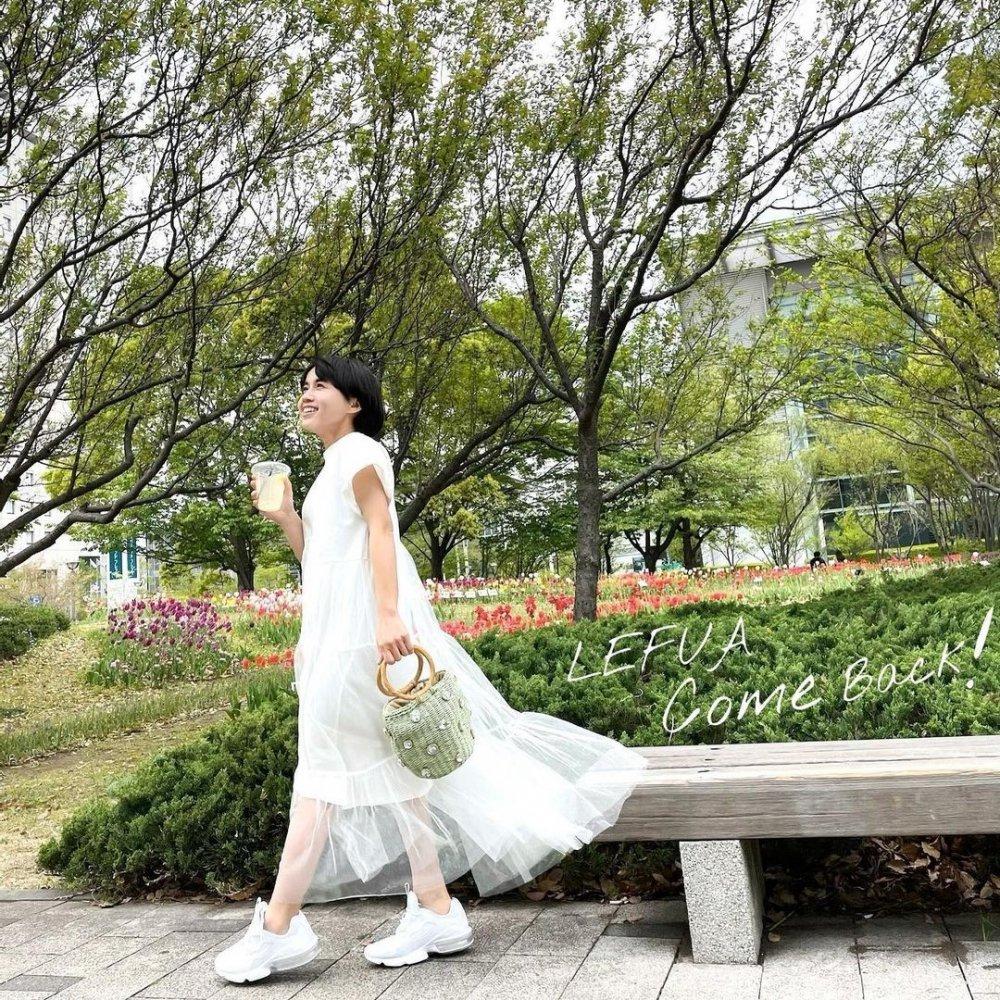 スプライジングチュールドレス(Cinderella white)