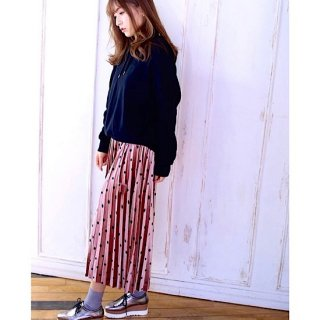 <img class='new_mark_img1' src='//img.shop-pro.jp/img/new/icons55.gif' style='border:none;display:inline;margin:0px;padding:0px;width:auto;' />【mamagirl掲載】レフアマットドットプリーツスカート