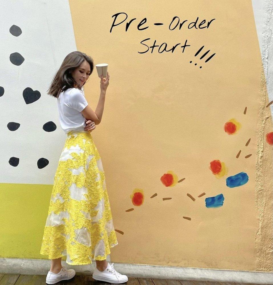 【andGIRL掲載9/10号掲載】レフア総刺繍シアーフラワースカート