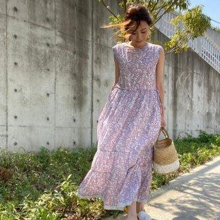レフアコットンリーフドレス
