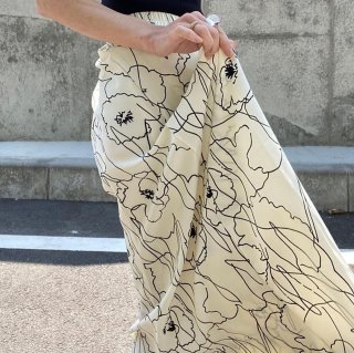 グラフィティフラワースカート