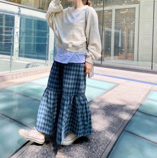 カジュアルチェックマーメイドスカート