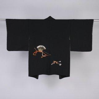 黒絵羽織 弓と矢 裄丈64.5cm