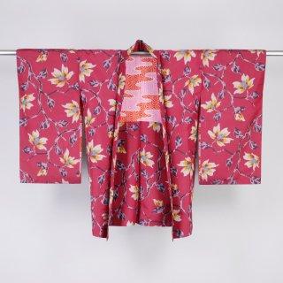 アンティーク羽織 銘仙 木蓮 裄丈61.5cm