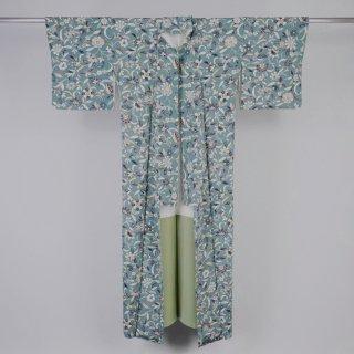 小紋 花柄 裄丈66cm