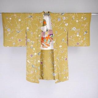 長羽織 更紗調 裄丈63.5cm
