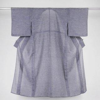 単衣 オリエンタル調の地紋入り 裄丈64�
