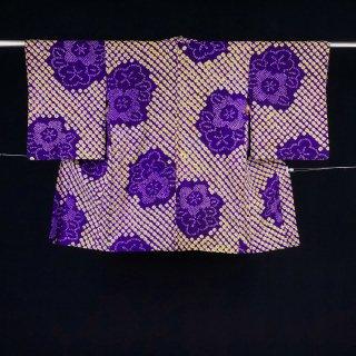 アンティーク羽織 機械蜘蛛絞り 裄丈63�