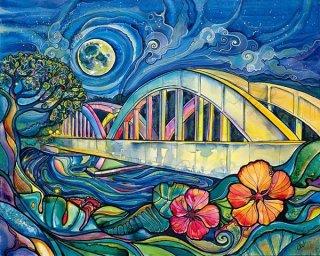 Rainbow Bridge(ジグレー/キャンバス)