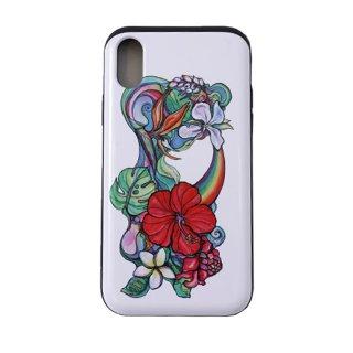 【日本限定モデル】ICカード収納型iPhoneケース(Mele Aloha)iPhoneX対応サイズ