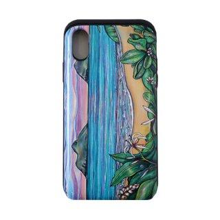 【日本限定モデル】ICカード収納型iPhoneケース(Lanikai Sunrise)iPhoneX対応サイズ